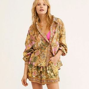 Jungle Blouse Free People Tropical Spell Designs